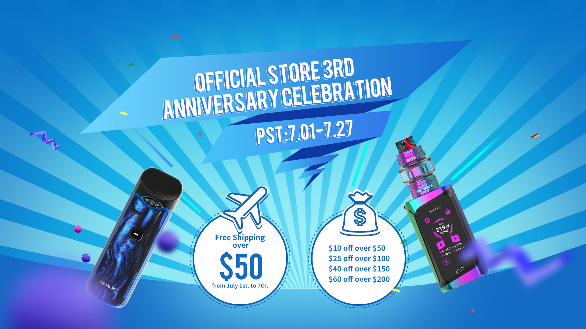 Official Store 3rd Anniversary Celebration - SMOK