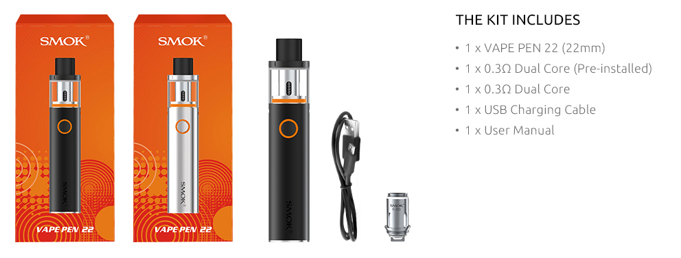 What SMOK Vape Pen 22 Kit Includes