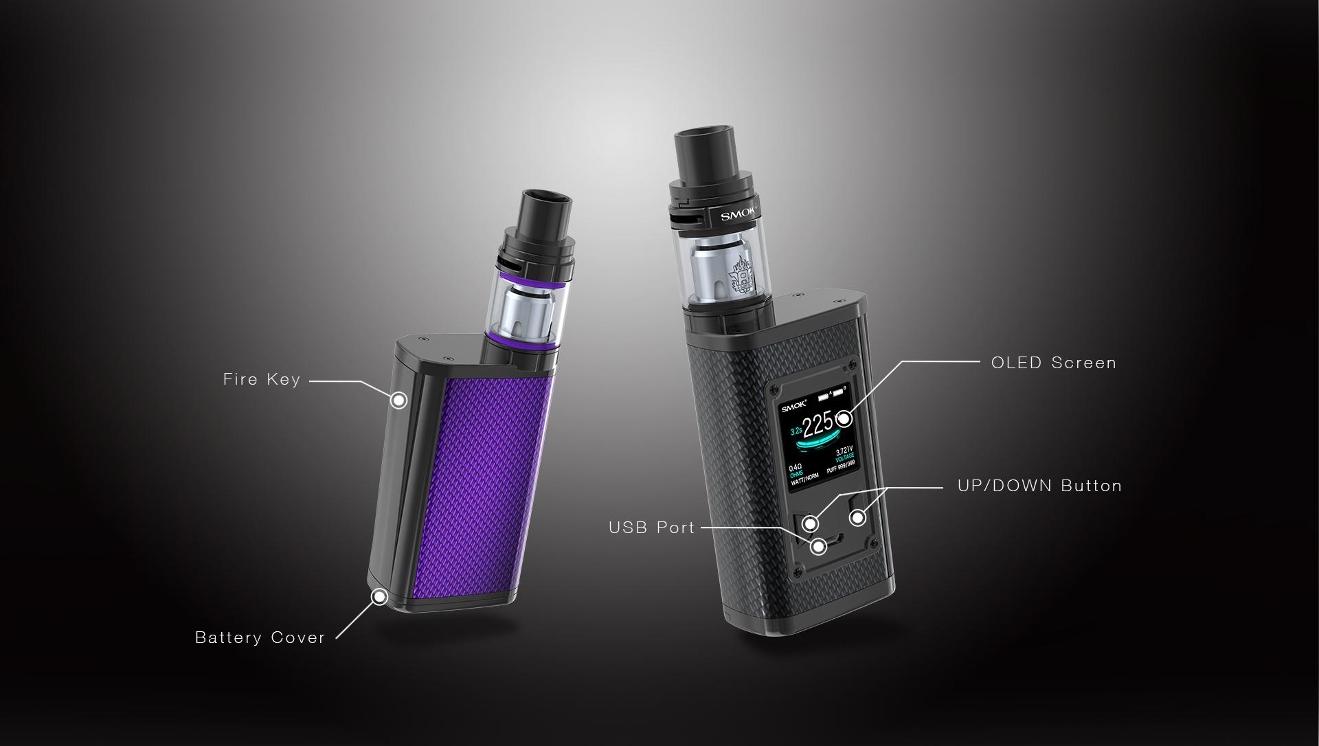 Smok Majesty e-sigarett sett informasjon