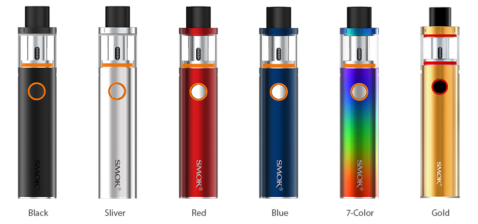6 Colors Available for SMOK Vape Pen 22 Kit