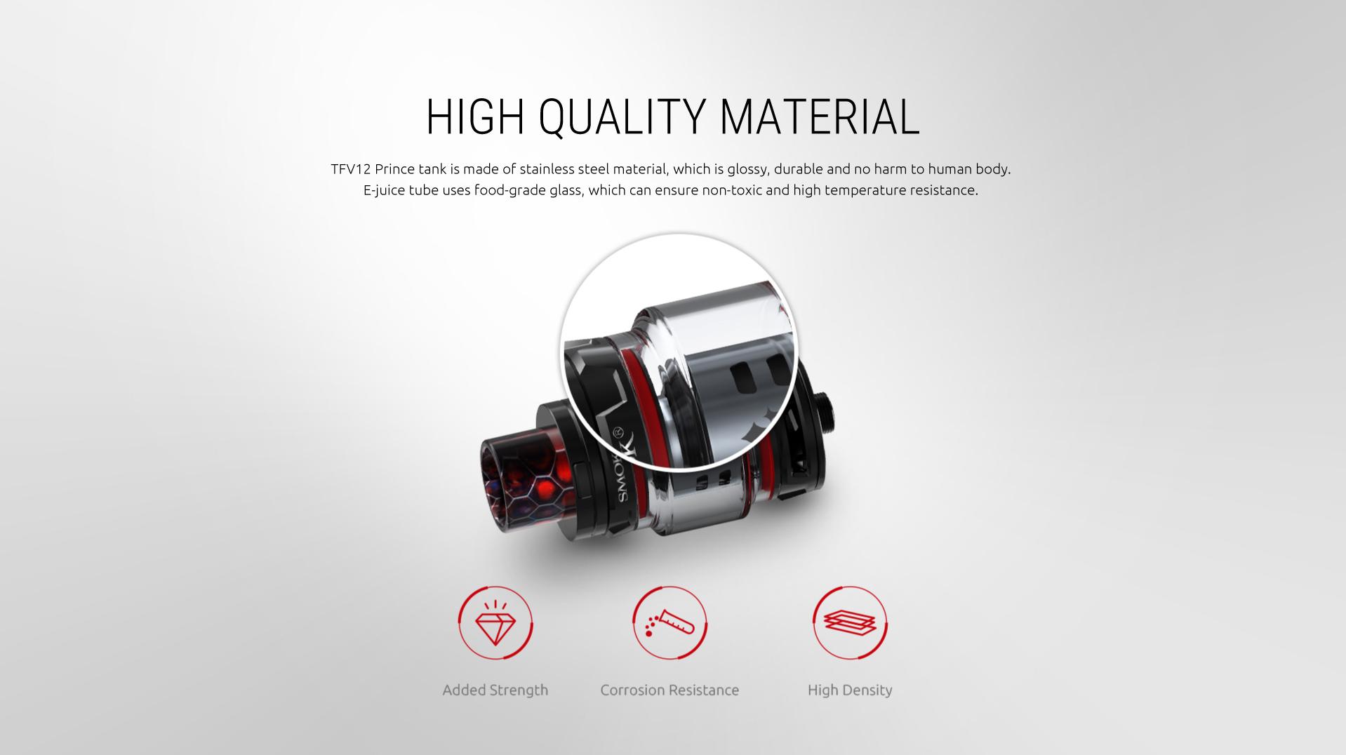 Smok TFV12 Prince høy kvalitets materiale