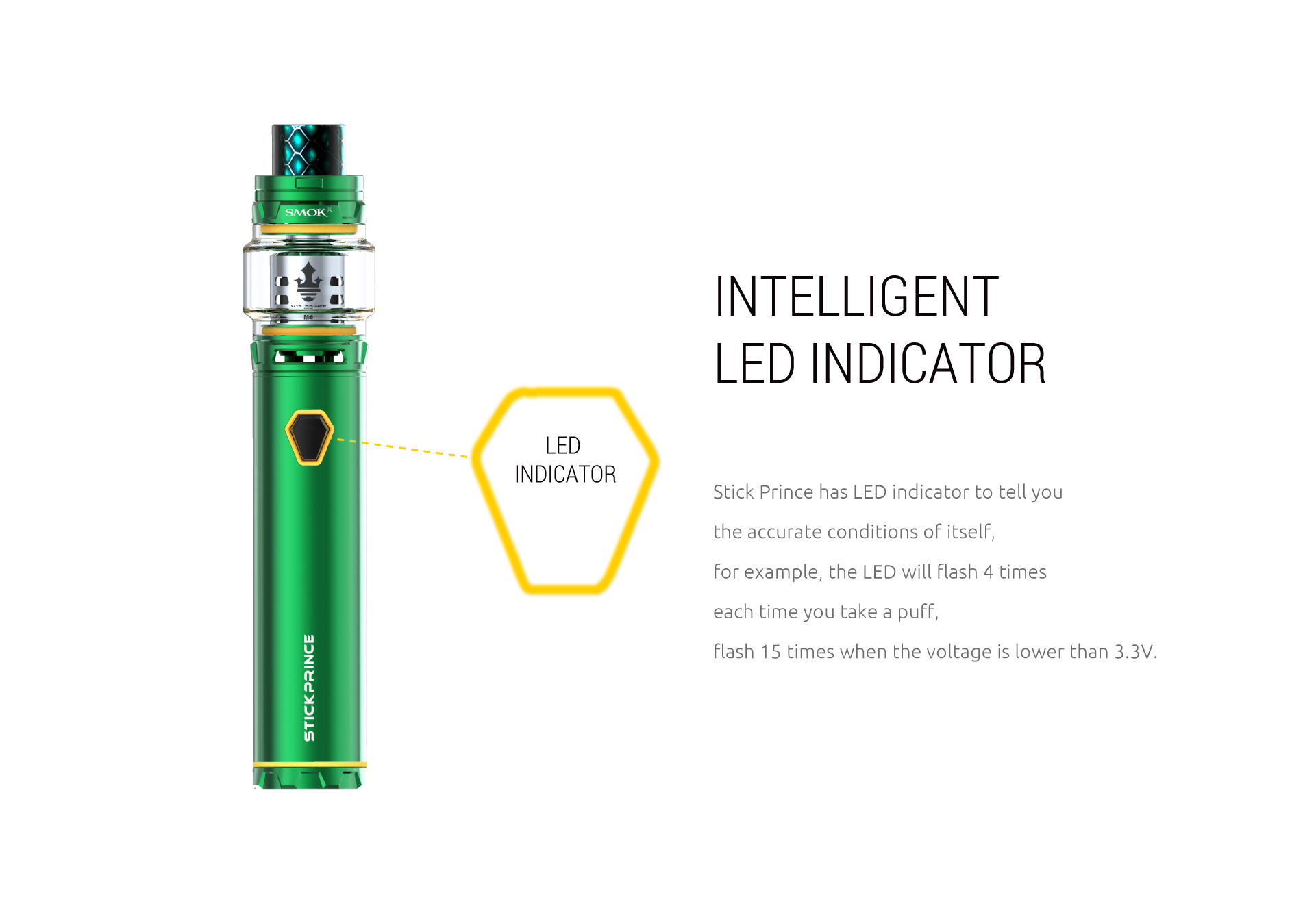 Smok Prince kit Led indikator