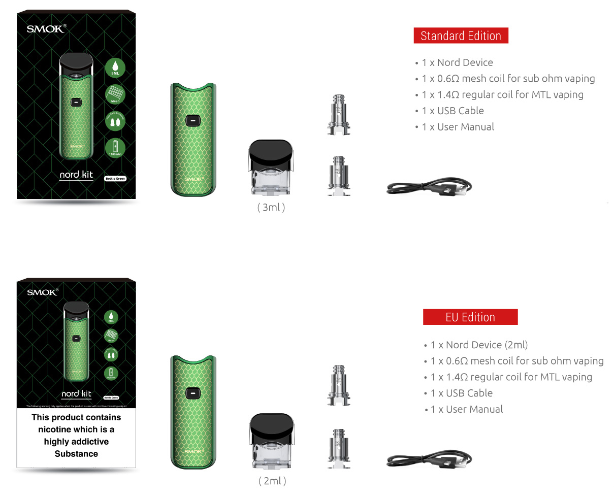NORD KIT - SMOK® Innovation keeps changing the vaping experience!