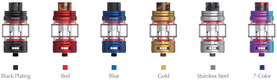 6 Colors Available for SMOK TFV16 Tank