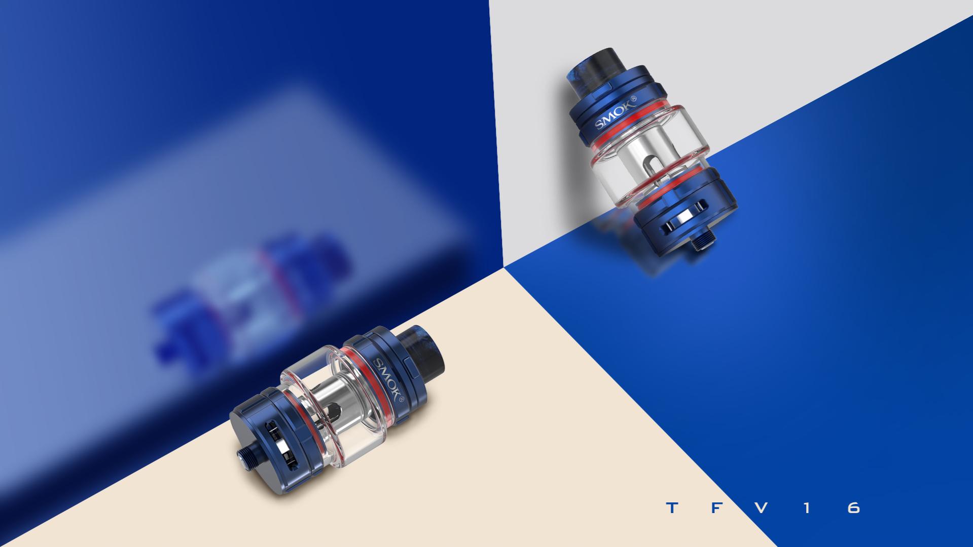 Noble Dark Blue Finish of SMOK TFV16 Tank