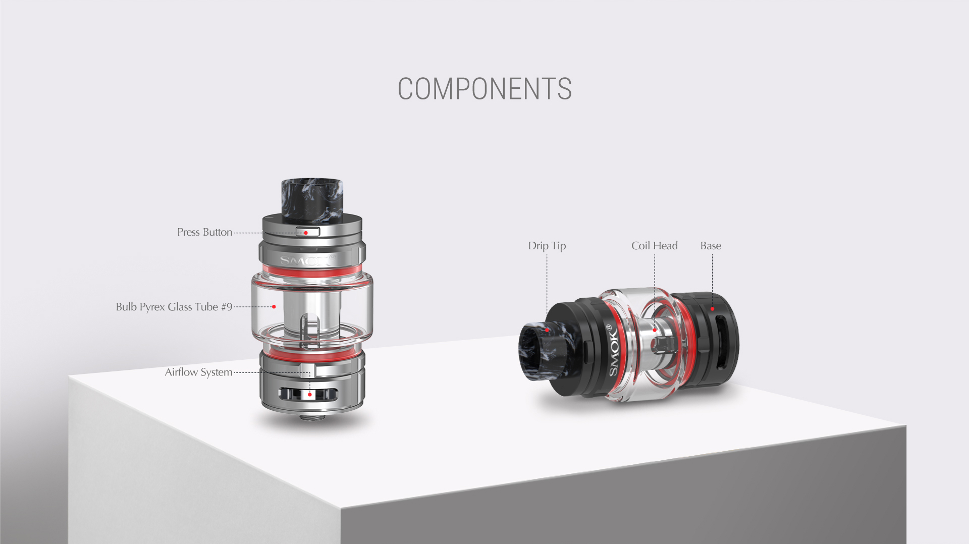 The Components of SMOK TFV16 Tank