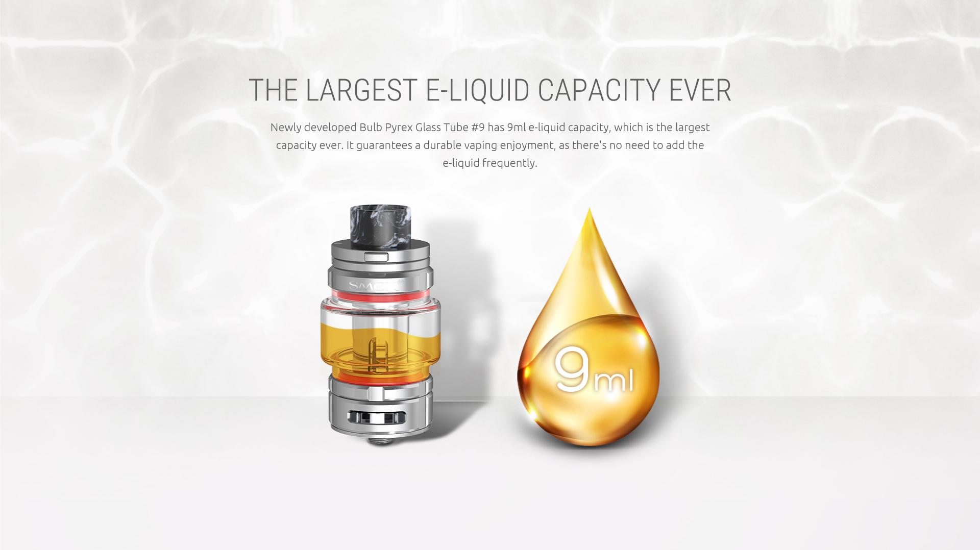 The Largest E-Liquid Capacity Ever-9ml SMOK TFV16 Tank