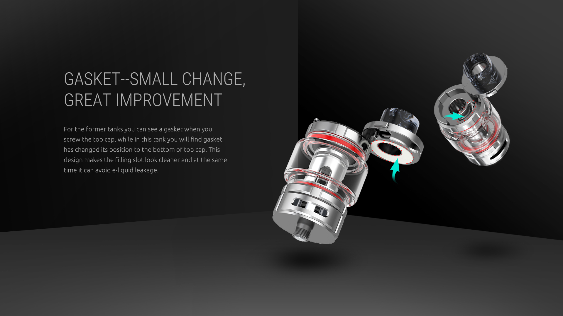 Small Change of Gasket, Big Improvement of SMOK TFV16 Tank