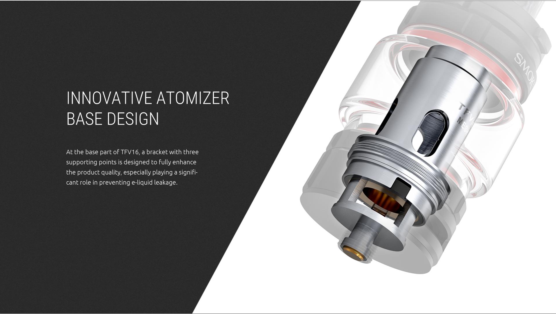 SMOK TFV16 Tank'S Innovative Atomizer Base Design