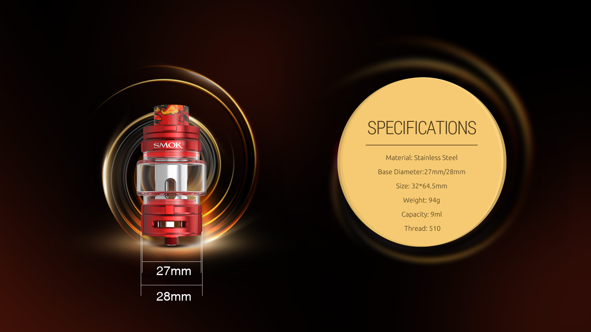 The Specifications of SMOK TFV16 Tank