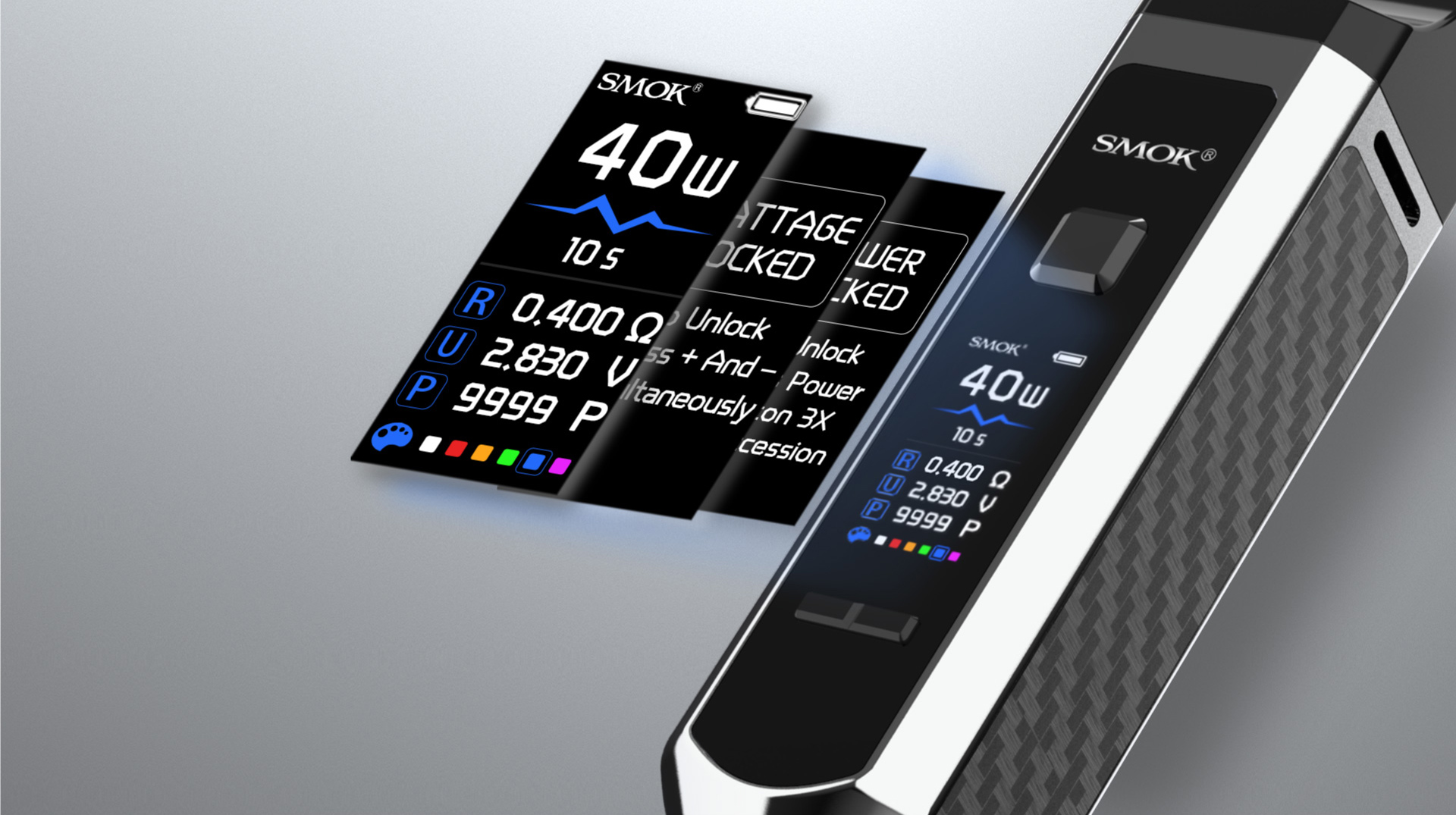 The Screen of SMOK RPM40 Shows You Multi-Information