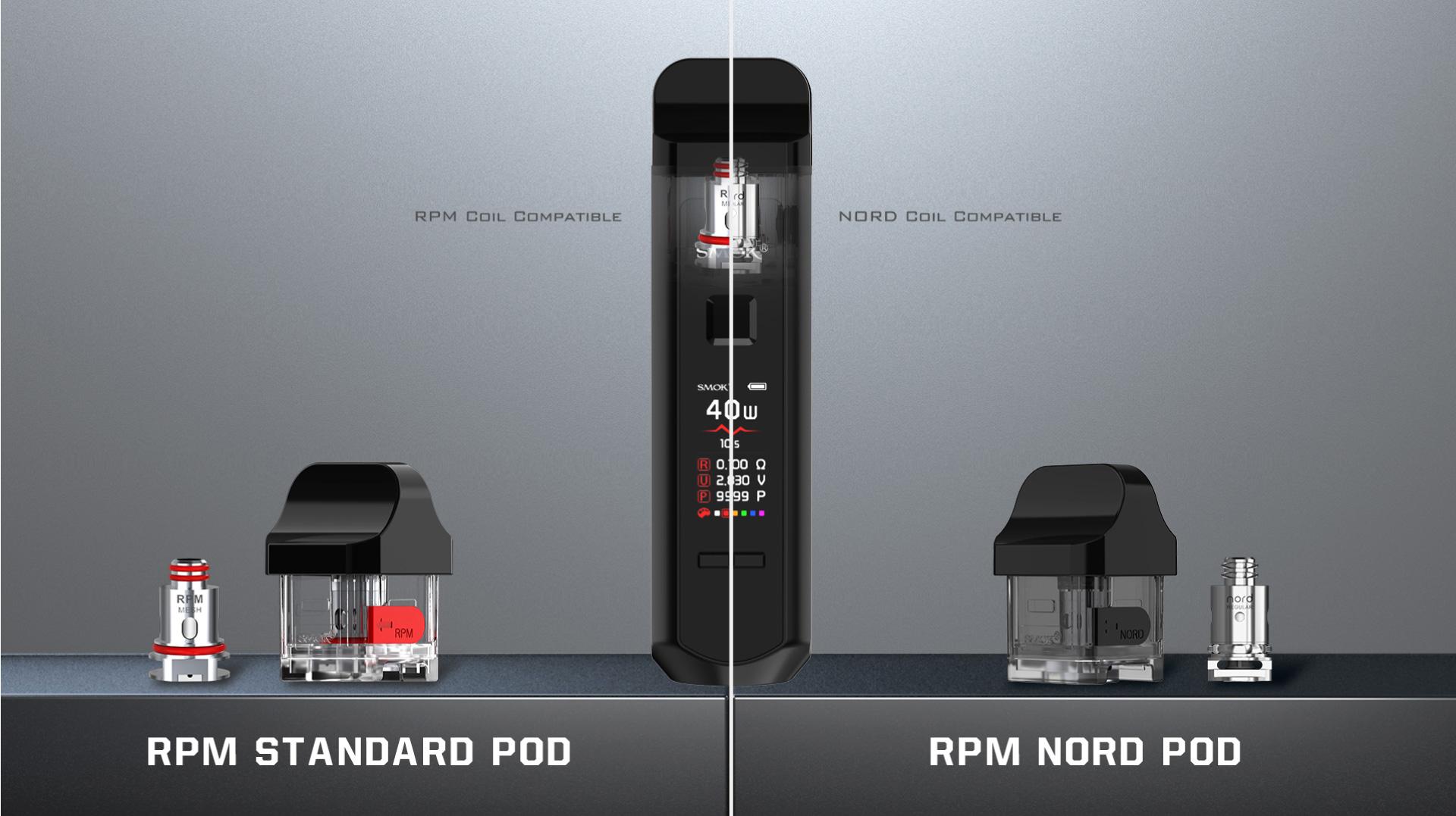 SMOK RPM40 Nord Bobin Uyumludur