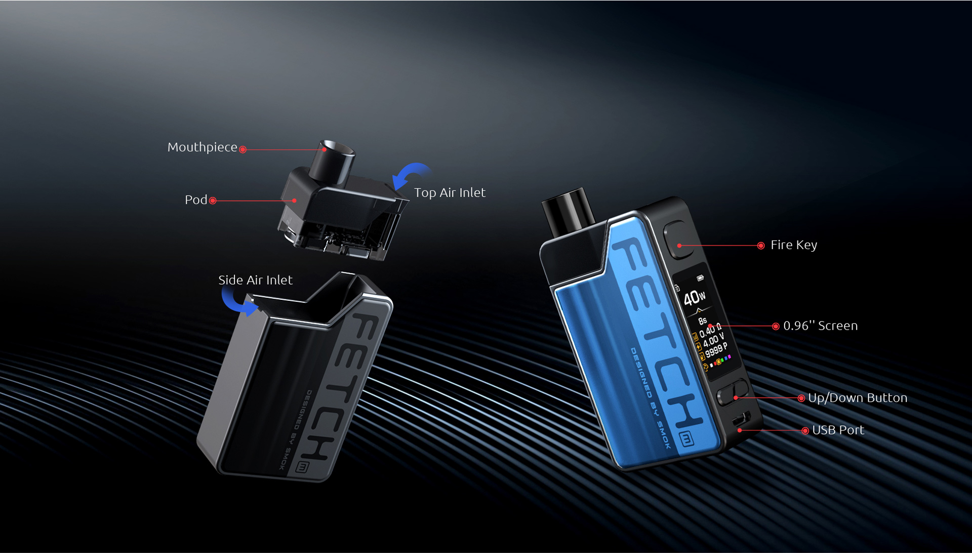 The Components of SMOK Fetch Mini