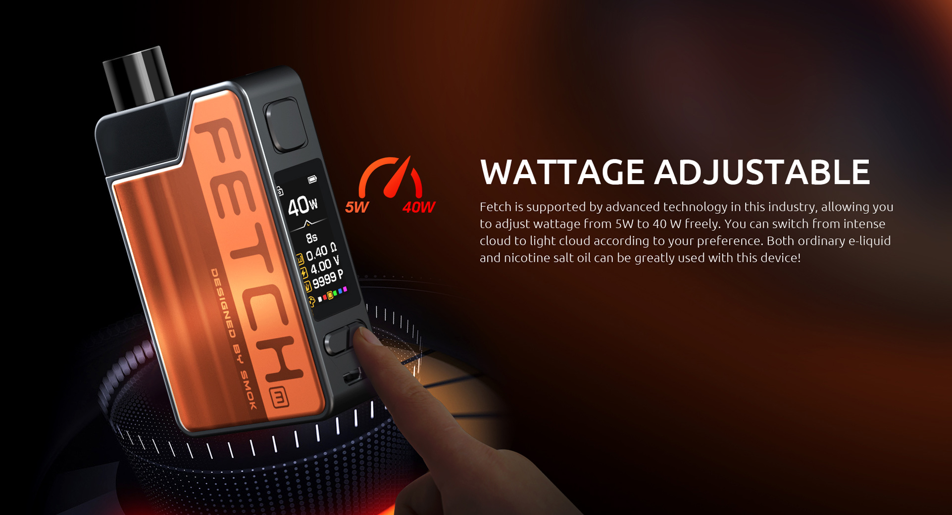 SMOK Fetch Mini is Wattage Adjustable