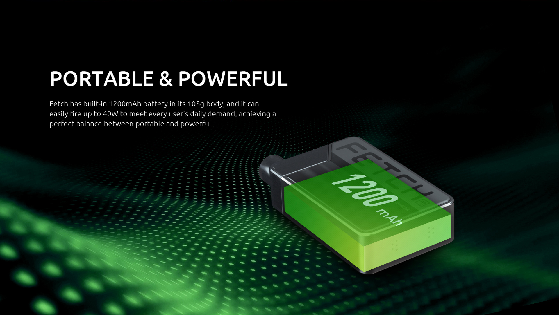 SMOK Fetch Mini Has a 1200mAh Built-In Battery