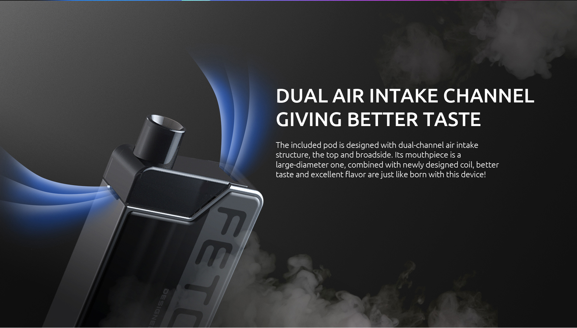 Dual Air Intake Channel Design of SMOK Fetch Mini