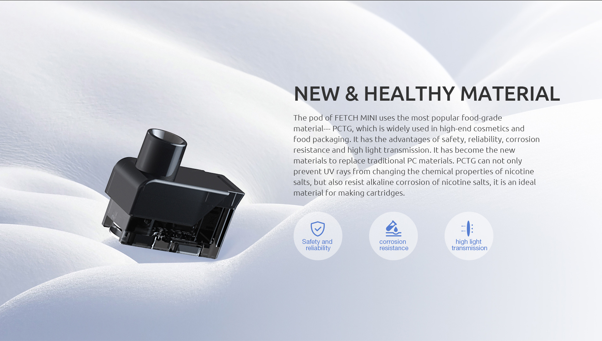 SMOK Fetch Mini Uses New and Healthy Material