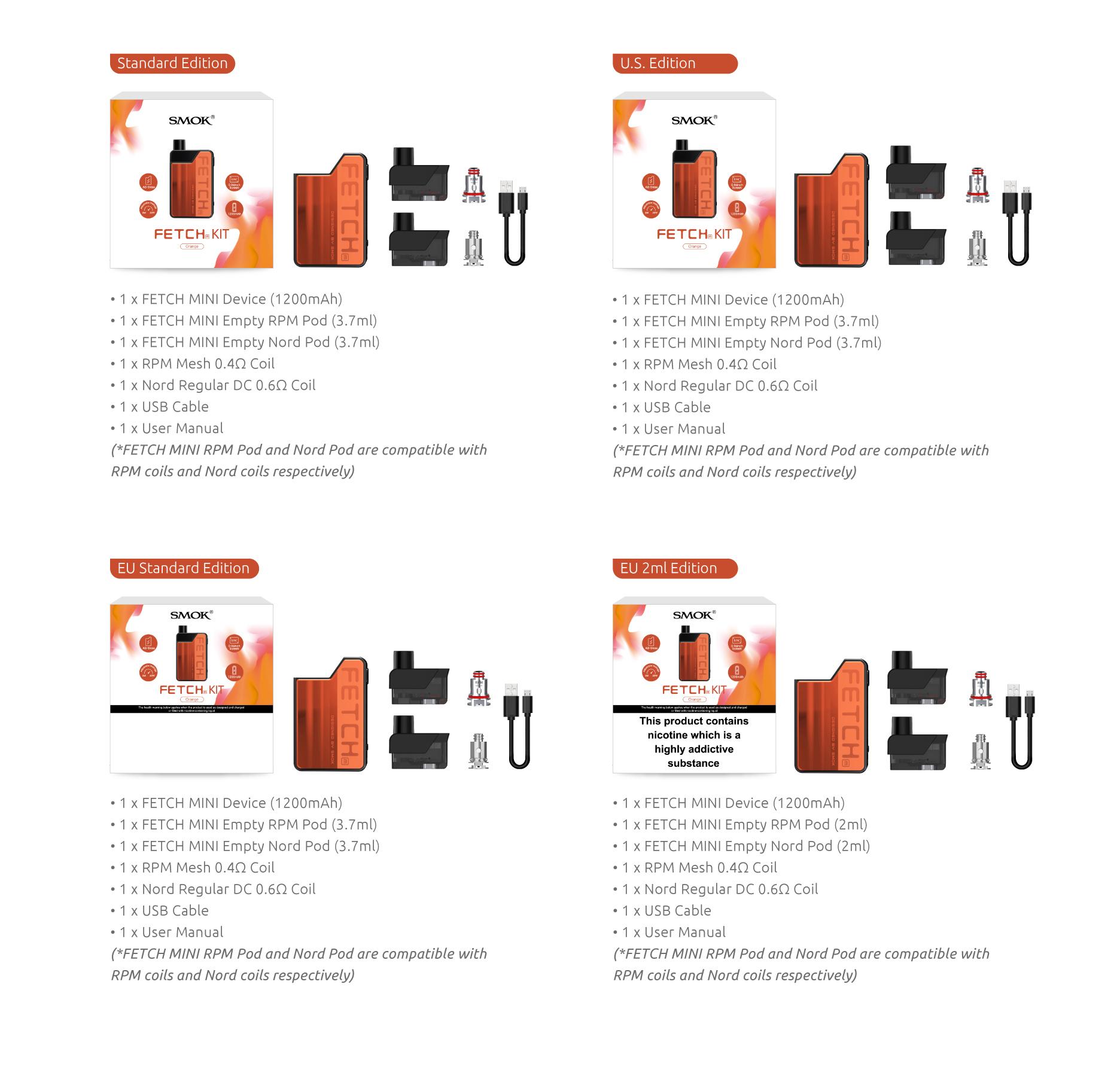4 Editions of SMOK Fetch Mini