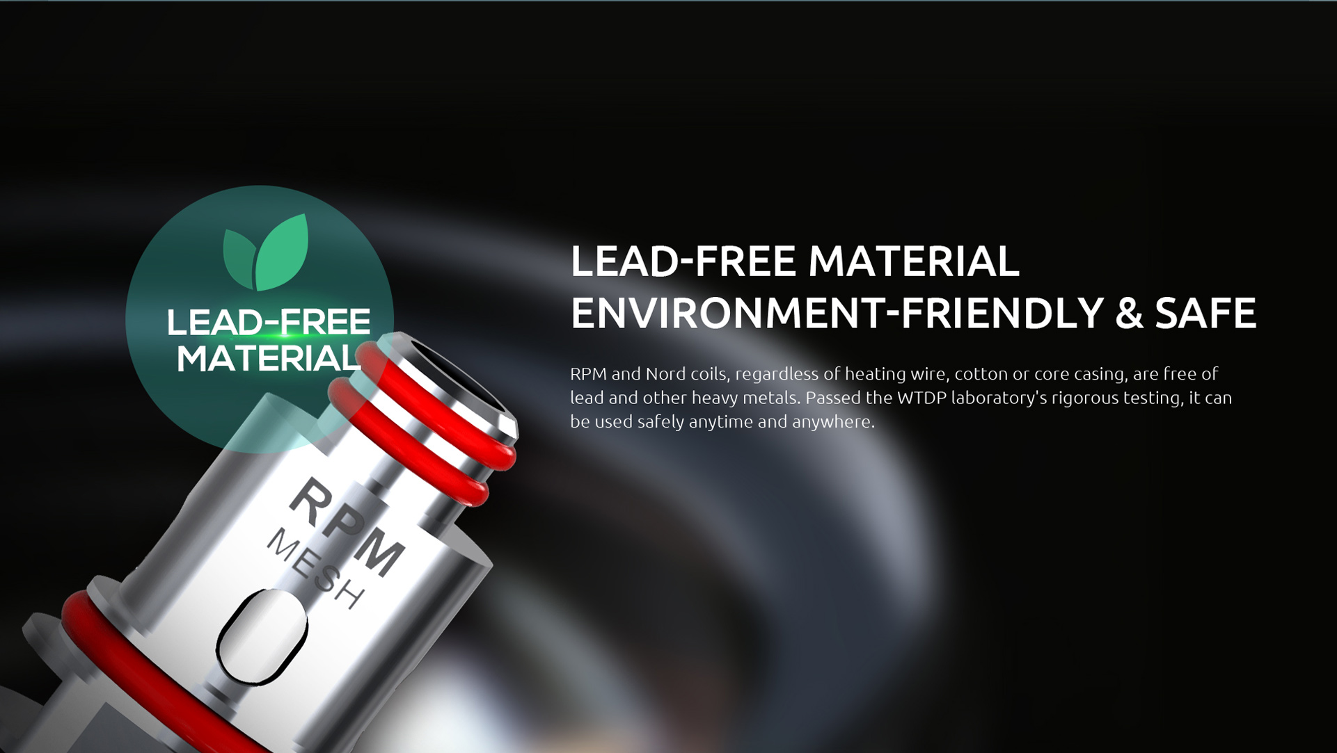 SMOK Fetch Mini Uses Lead-Free Material