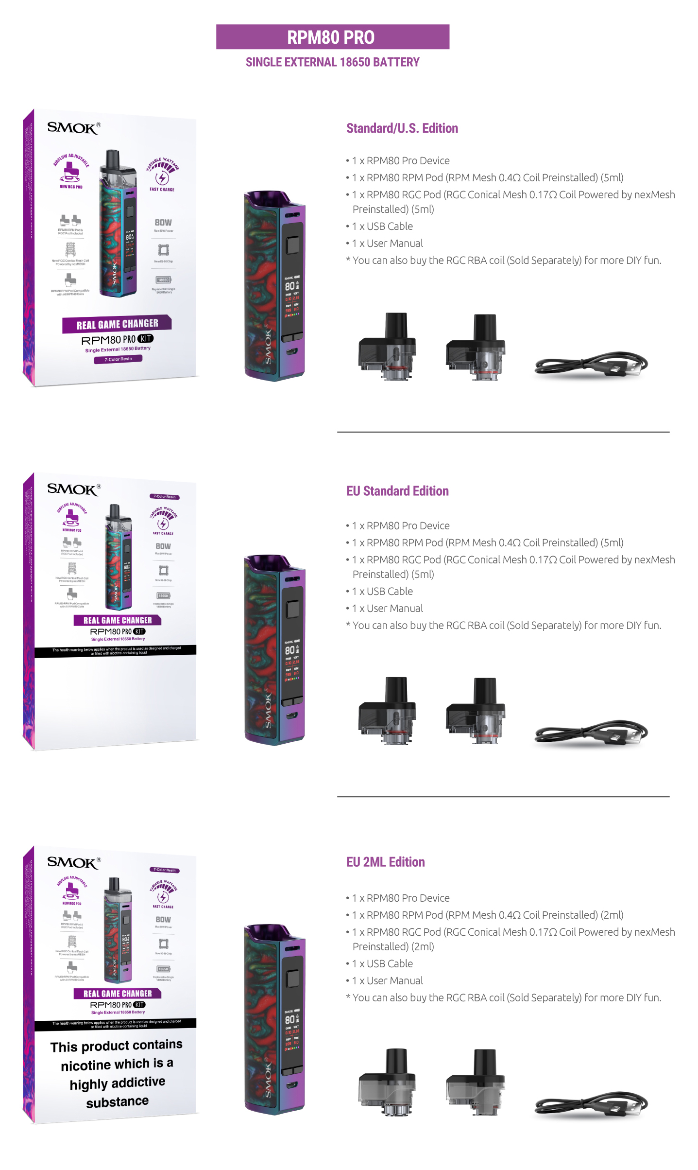 Rpm80 Rpm80 Pro Smok Innovation Keeps Changing The Vaping