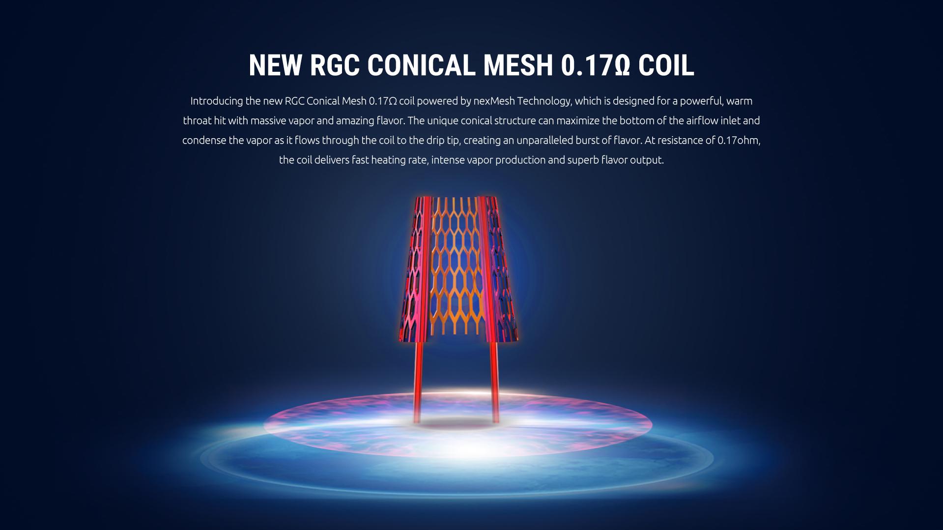 Smok RPM80 RGC Conical Mesh Coil | 0.17Ohm | Single Coil