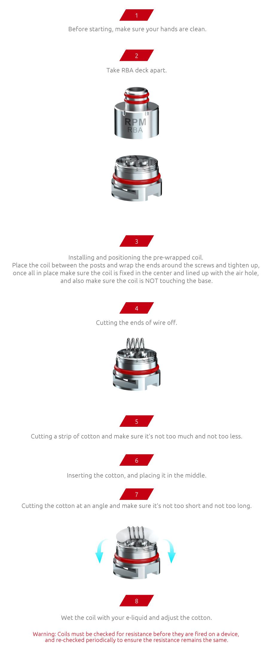 SMOK RPM80 RGC RBA Coil Head | Single Coil
